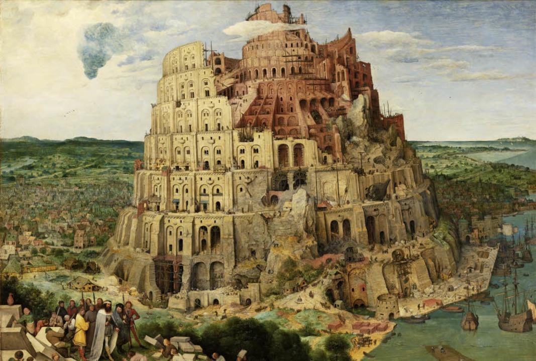 """Der Esperanto-Traum, die   Sprachverwi...els """"Turmbau zu Babel""""        Foto: bz"""