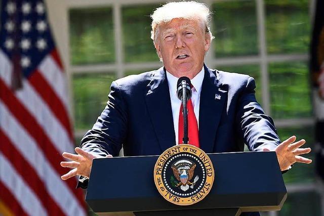 US-Präsident Donald Trump kündigt das Pariser Klimaabkommen auf
