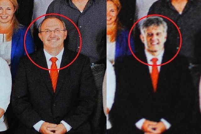 Bürgermeister wandert per Photoshop aufs Gruppenbild