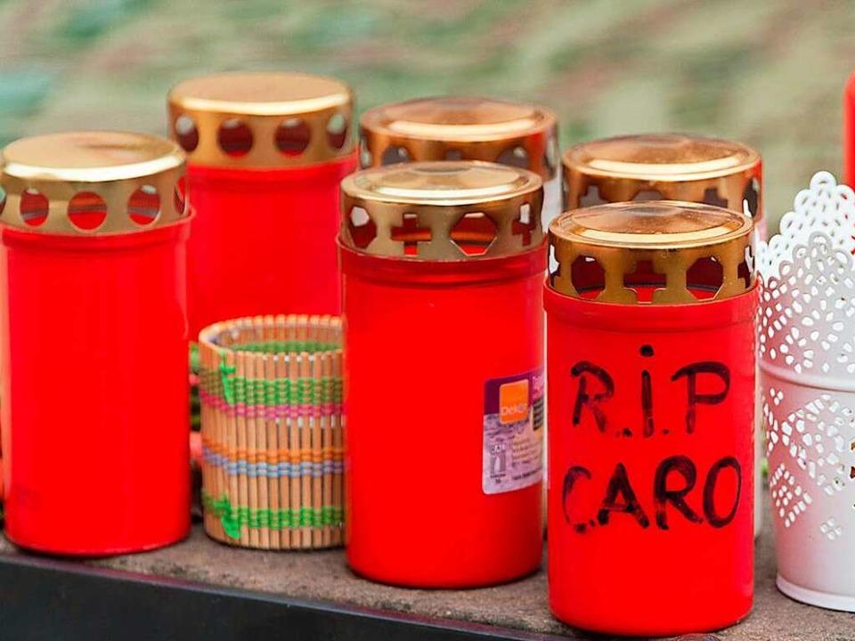 Die Endinger trauerten um Carolin G. &...Täter. Nun scheint er gefasst zu sein.  | Foto: dpa