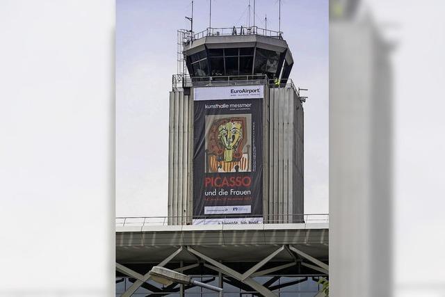 Riesenposter am Tower