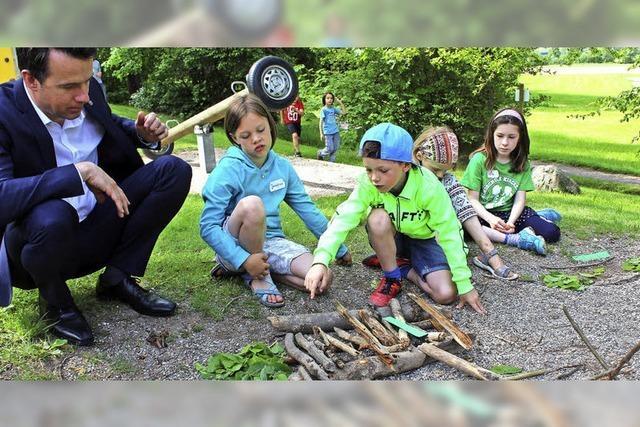 Grundschüler als Landschaftsplaner