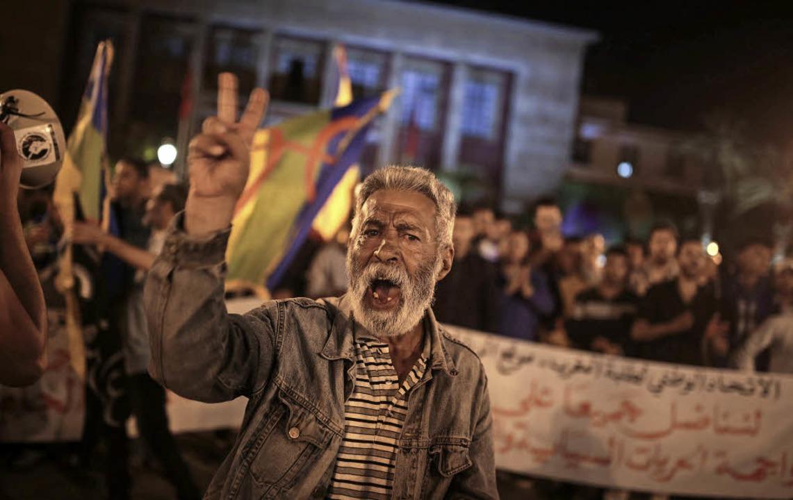 Proteste in der marokkanischen Hauptstadt Rabat  | Foto: DPA