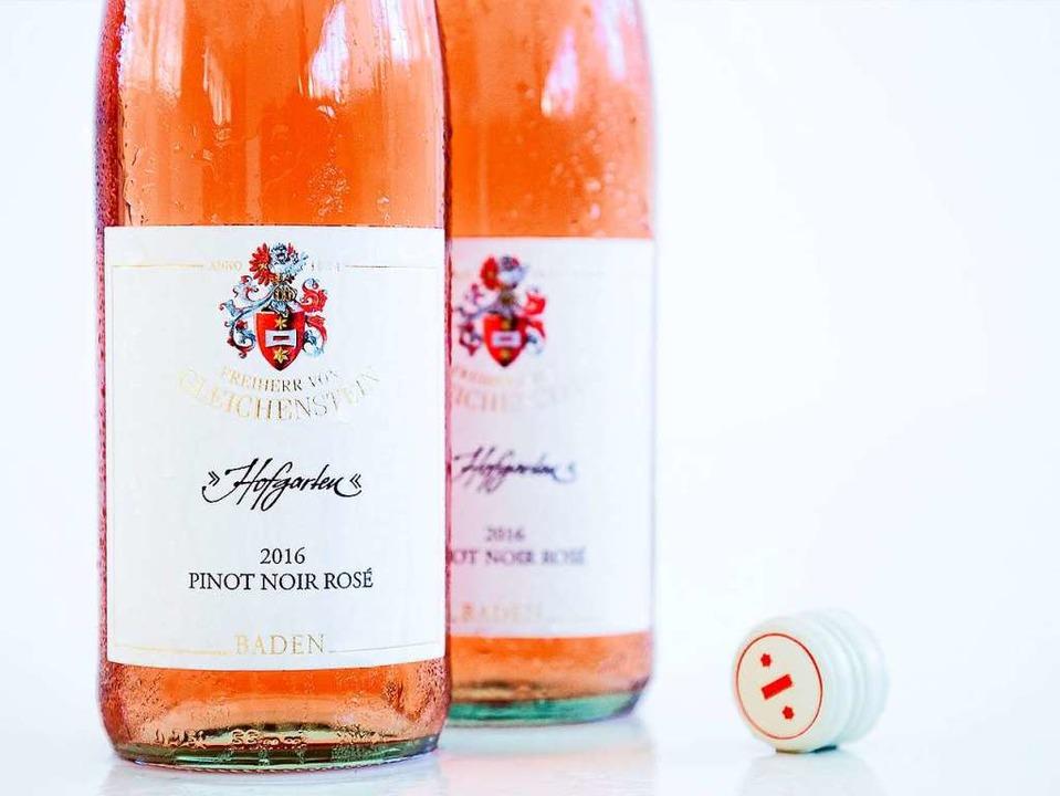 Frisch, knackig, fruchtig – der Pinot Noir Rosé Hofgarten   | Foto: Michael Wissing