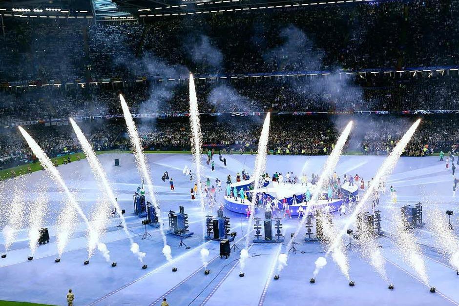 Eröffnungszeremonie in Cardiff. (Foto: dpa)