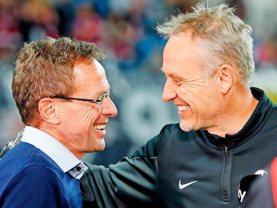 Ralf Rangnick und Christian Streich.  | Foto: dpa