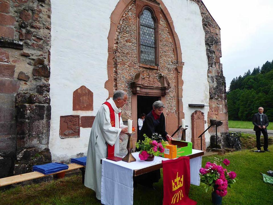 Vor dem besonderen historischen Rahmen...nkenkapelle des Zisterzienserklosters.  | Foto: privat