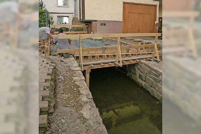 Brückensperrung noch bis Ende Juli