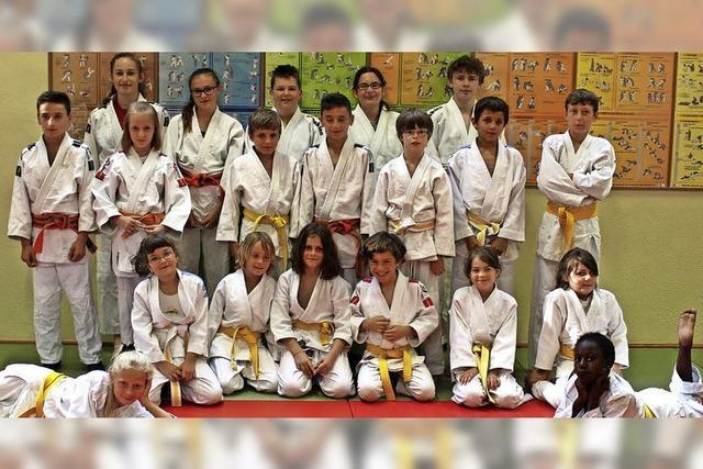 Judokas erringen viele neue Gürtel