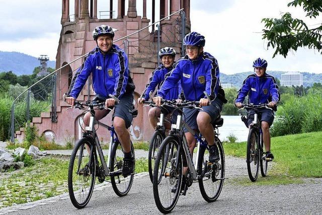 Im Freiburger Seepark patrouilliert die Polizei jetzt auf dem Rad