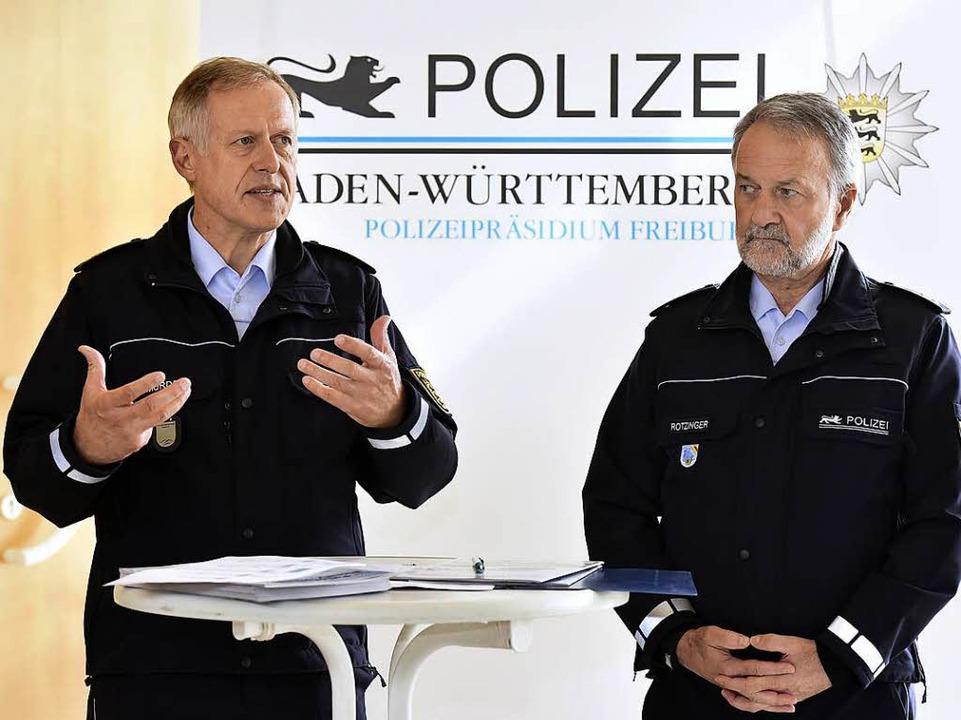 Polizeipräsident Thomas Mürder, Chef d...d Polizeipräsident Bernhard Rotzinger.  | Foto: Thomas Kunz