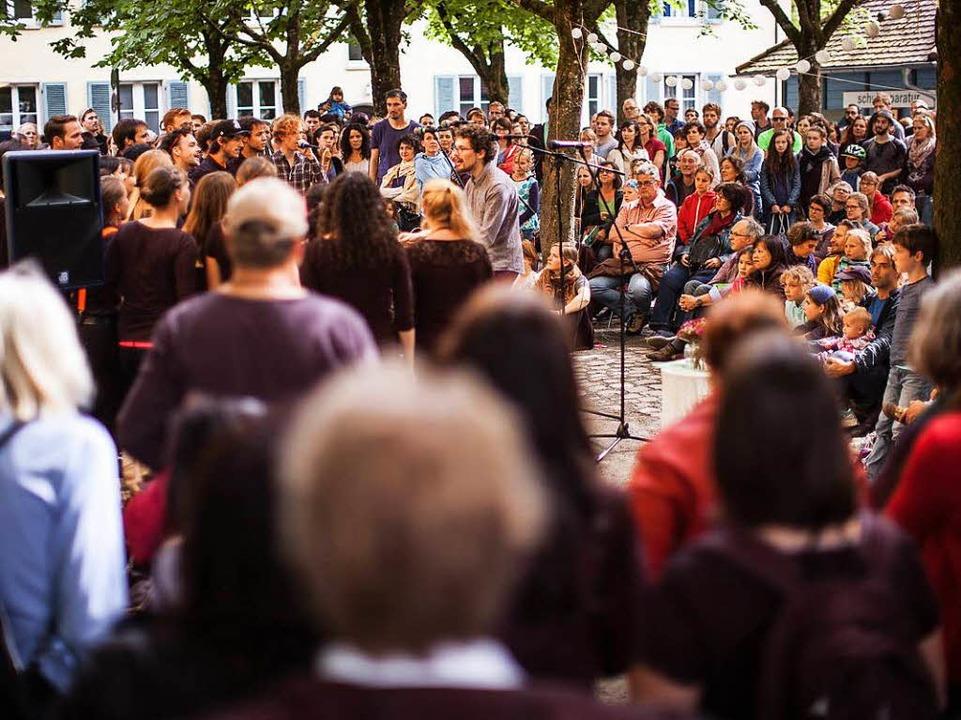 Volle Plätze gab's bei Freiburg stimmt ein im vergangenen Jahr    Foto: Janos Ruf