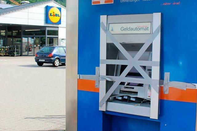 Unbekannte versuchen Geldautomaten in Waldkirch in die Luft zu jagen