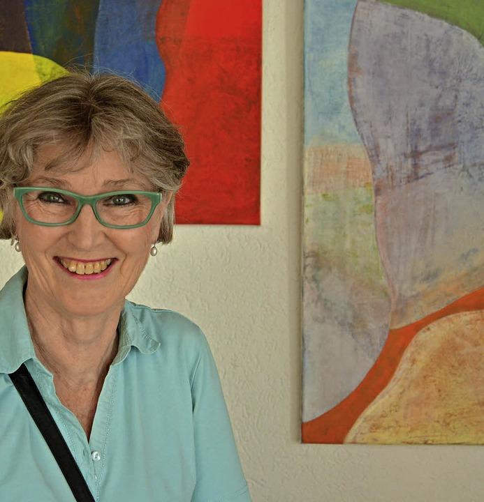 Diethild Herbolzheimer-Böttner aus Hoc...i ihre Werke im Freiämter Kurhaus aus.  | Foto: Benedikt Sommer