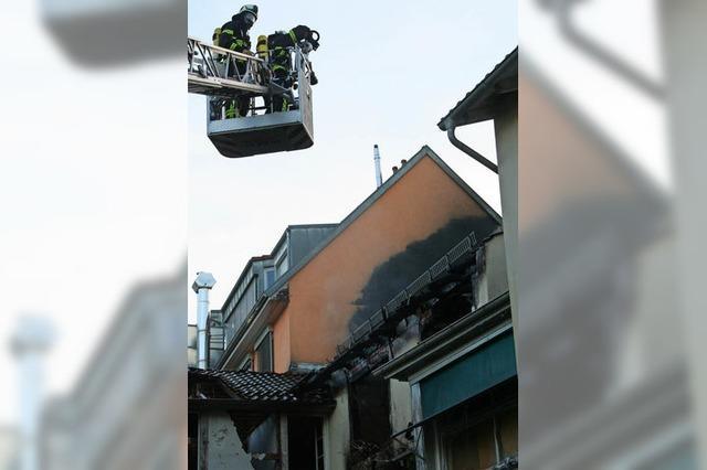 Feuer zerstört ein Stück Stadthistorie