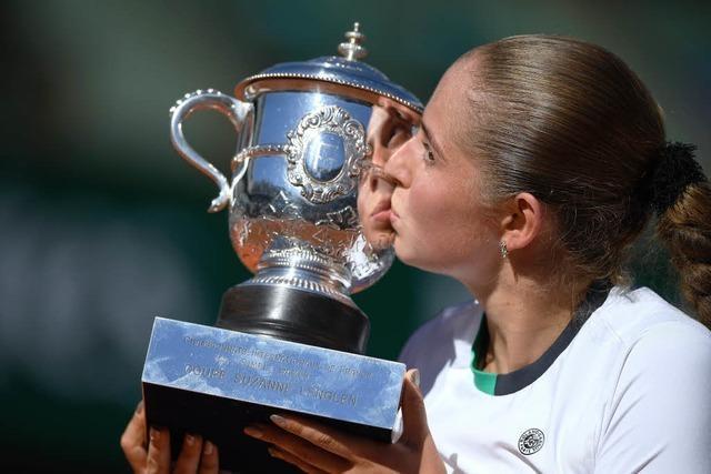 Ungesetzt, aber unbesiegt: Ostapenko gewinnt French Open