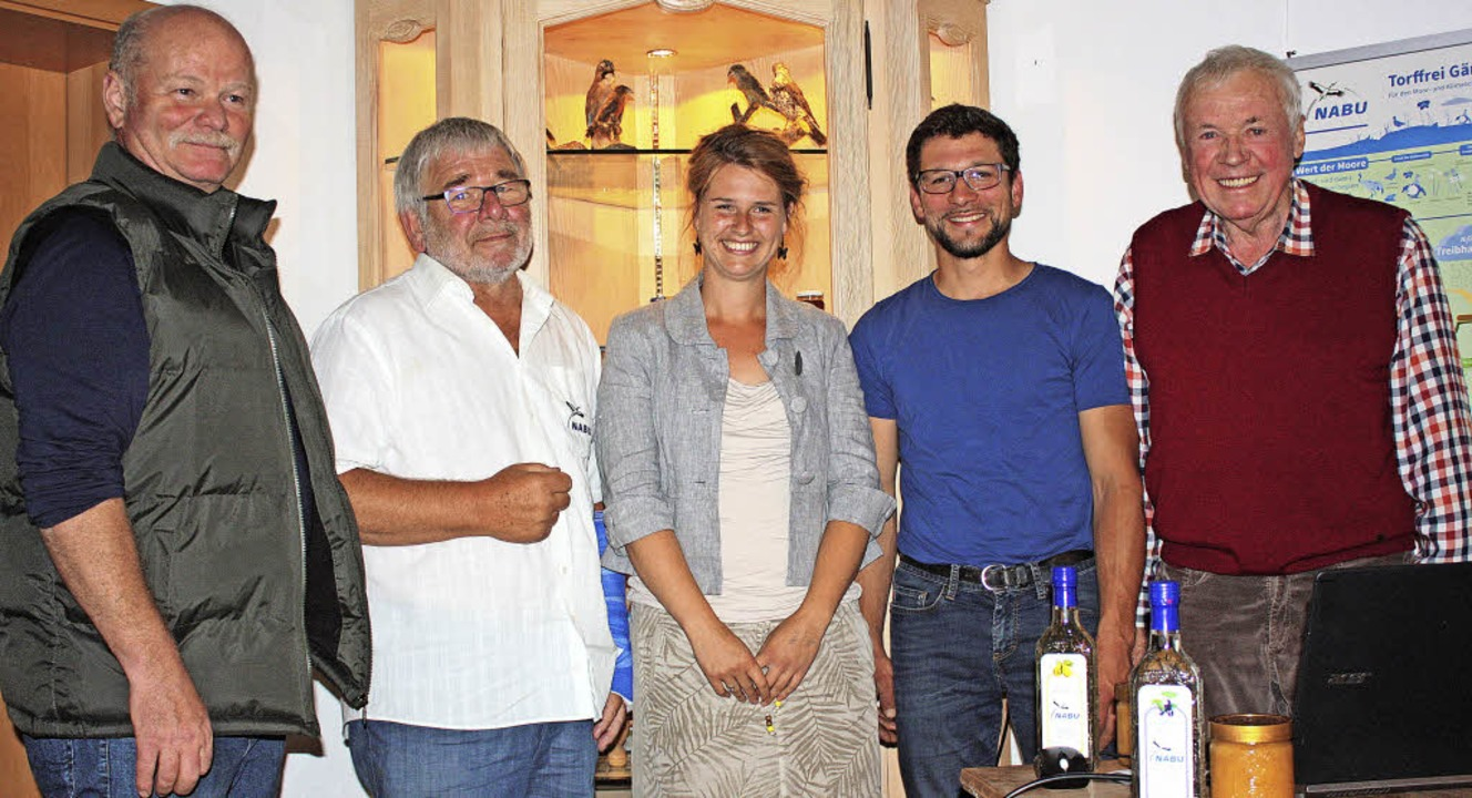 Freuten sich über angeregte Diskussion...er  NABU-Ortsgruppe  Bonndorf-Wutach).    Foto: Dorothée Kuhlmann