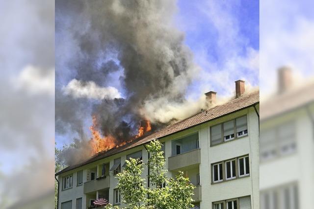 Feuer in Offenburger Wohnhaus
