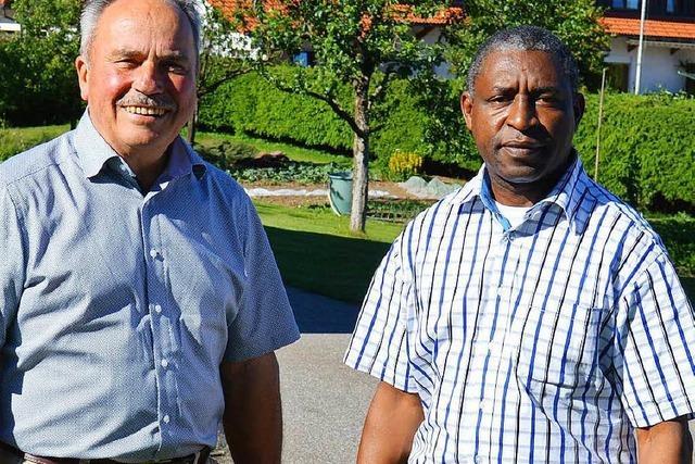Pfarrer Msagati ist dankbar für die Hilfe vom Hotzenwald