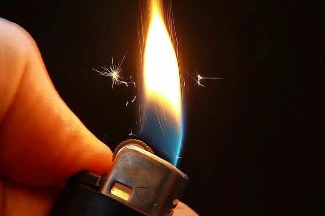Betrunkene setzt Streifenwagen in Brand