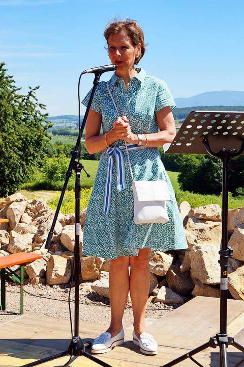 Landrätin Marion Dammann lobt in ihrer...Innovationskraft der Familie Brändlin.  | Foto: Silke Hartenstein