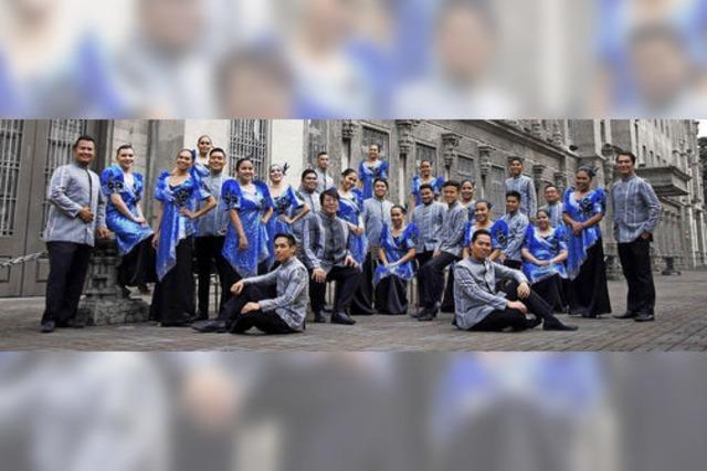 Die University of Santo Tomas Singers aus Manila im Forum Merzhausen