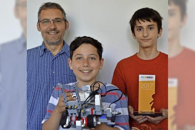 Schüler entwickeln eigene Roboter