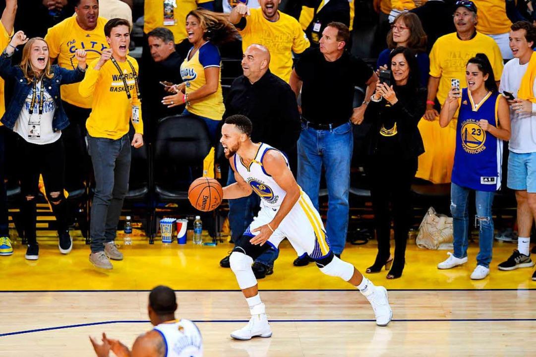 Stephen Curry von den Golden State Warriors  | Foto: AFP