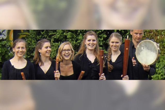 Das Ensemble Flauto Consort Freiburg interpretiert Musik der Renaissance