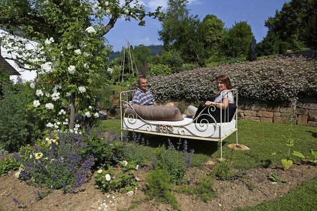 Sabine und Wilfried Rothmann in der Kuhbacher Hauptstraße präsentieren ihren ländlichen Garten