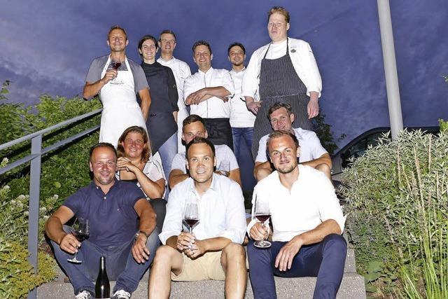 Wie war's bei dem kulinarischen Treffen von jungen Winzern und Köchen im Weingut Abril?