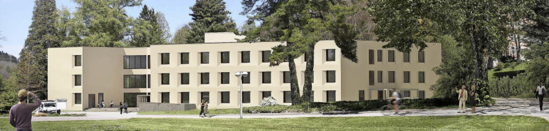 So soll der Neubau des Michaelhauses a...rich-Husemann-Klinik einmal aussehen.   | Foto: VisualisierunG: Architekturbüro Ruch + Partner