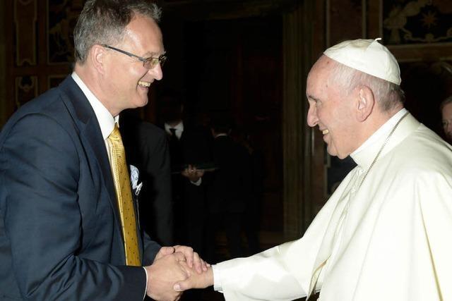 Eine seltene Ehre, dem Papst