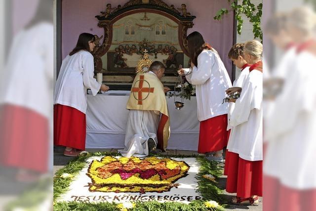 Prozessionen zu Fronleichnam