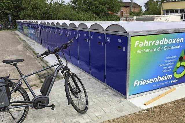 Zehn neue Fahrradboxen