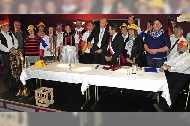 Fußball und Plausch in Rickenbachs Partnerstadt