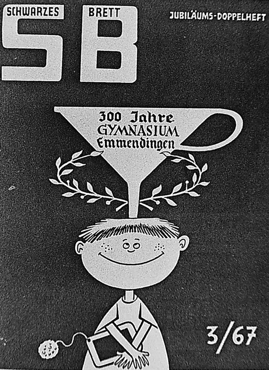 """Die Jubiläumsausgabe der Schülerzeitschrift """"Schwarzes Brett""""    Foto: Armin E. Möller"""