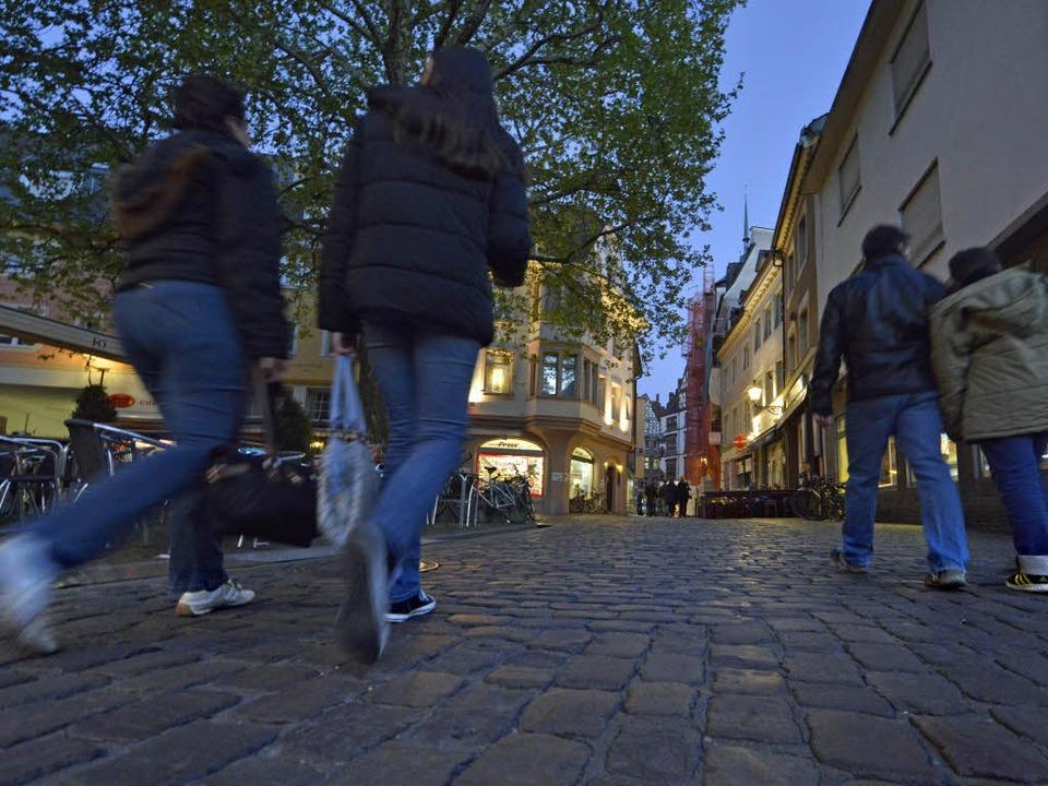 Rund zweieinhalb Stunden lang zogen di...ie Freiburger Innenstadt. (Symbolfoto)  | Foto: Michael Bamberger