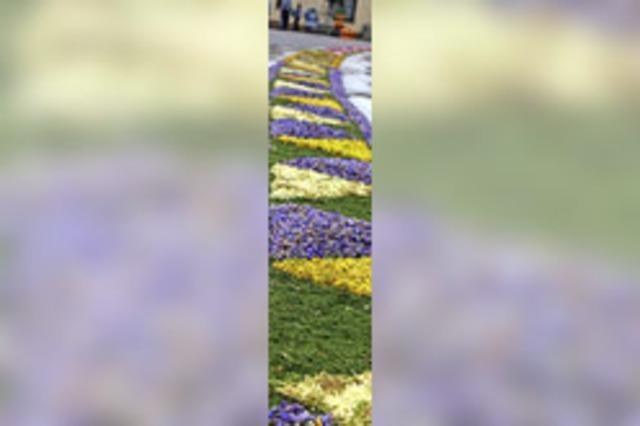Blumen und Böllerschüsse