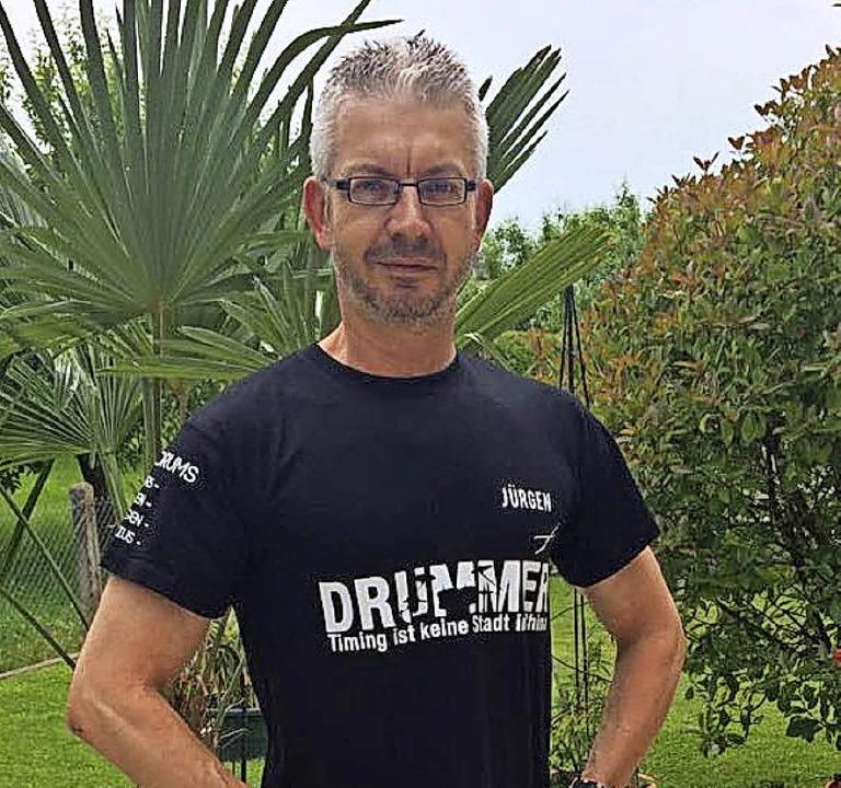 Jürgen Stephan, Schlagzeuger des MV Ni...ten Auftritt in einer Band entgegegen.  | Foto: Jörg Schimanski