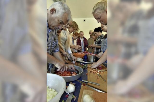 Im Vauban feierten Muslime und Nicht-Muslime gemeinsam das Fastenbrechen