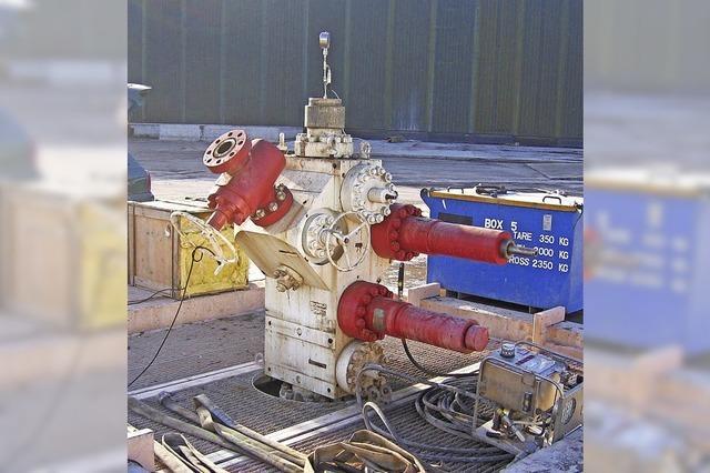 Geothermie-Bohrloch wird geöffnet