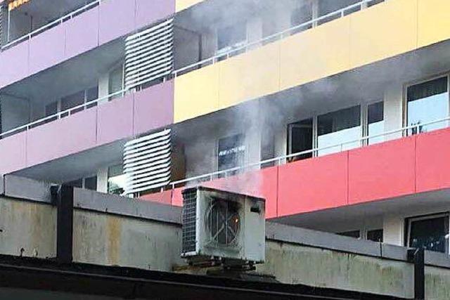 Klimaanlagenbrand an den Hochhäusern in Waldkirch