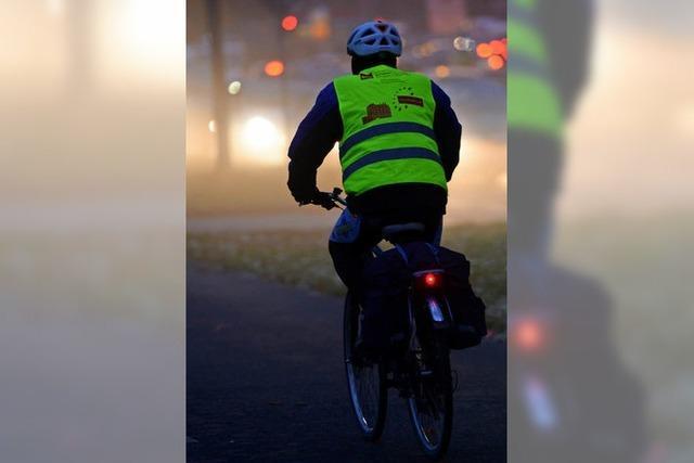 Eine Lichtspur für die Radler
