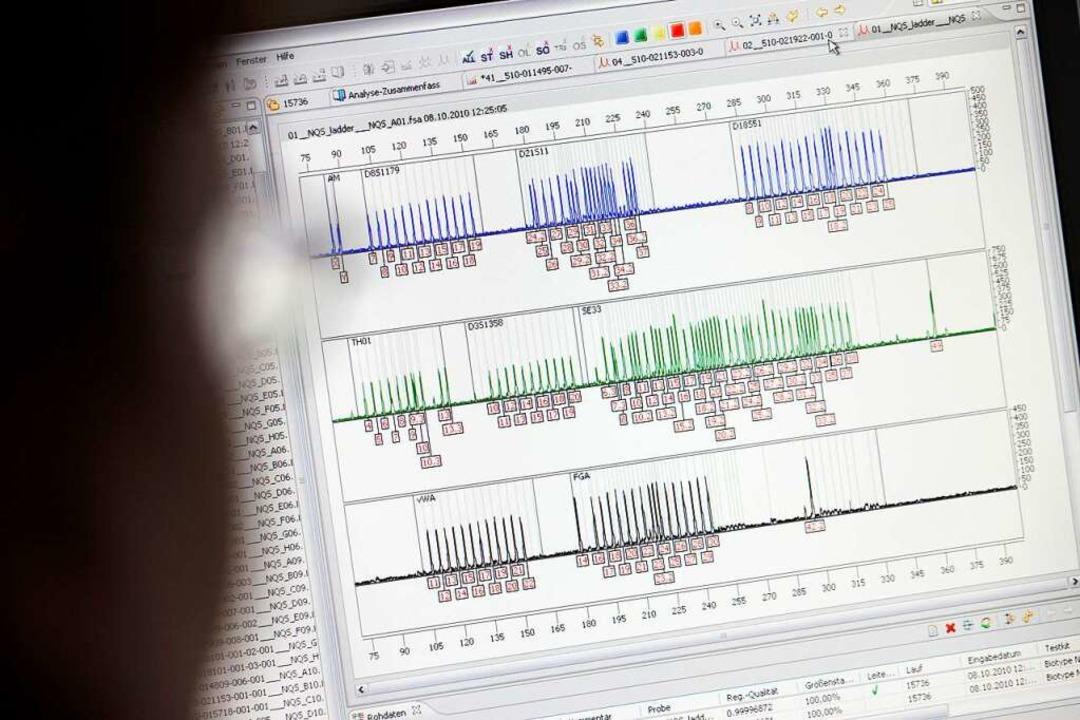 Genetischer Fingerabdruck durch DNA-Analyse  | Foto: Rolf Vennenbernd