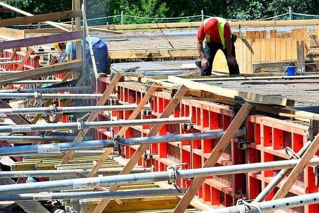 Wegen Hitze Betonieren von Freiburgs neuer Kronenbrücke verschoben