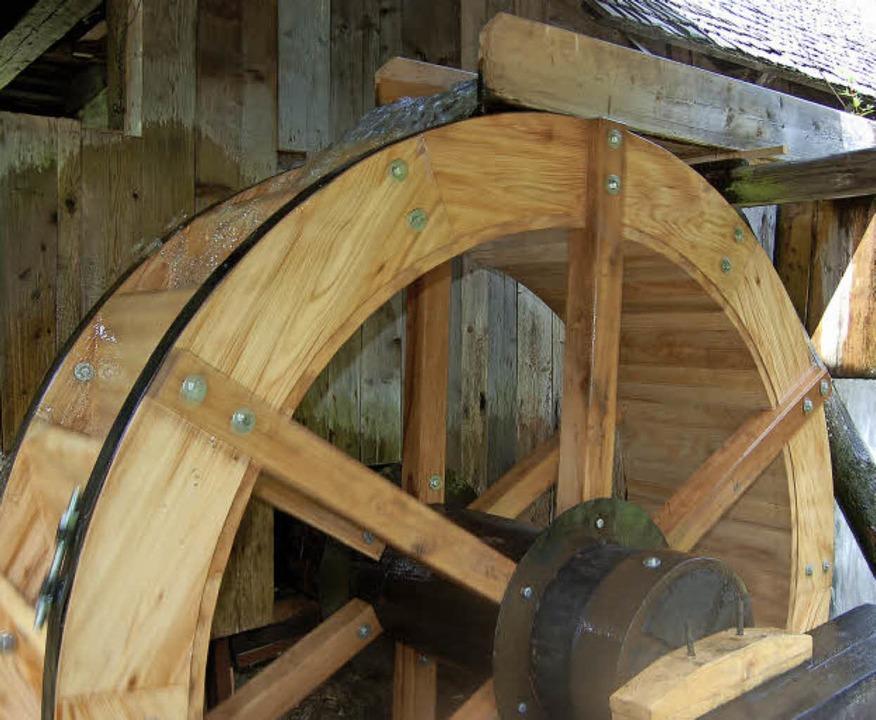 Das Rad der Fröhnder Klopfsäge ist zum...vor rund zehn Jahren erneuert worden.     Foto: Archivfoto: Karin Maier