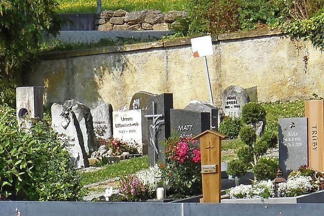 Friedhof wird umgebaut