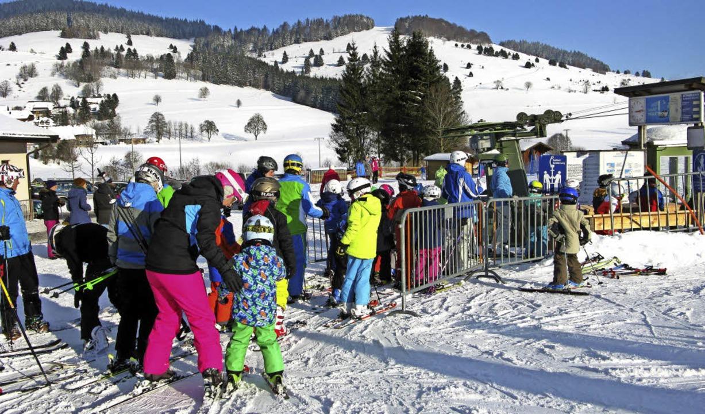 Der Schnee Ende Januar diesen Jahres t...n Ergebnis der Bernauer Skilifte bei.     Foto: Ulrike Spiegelhalter
