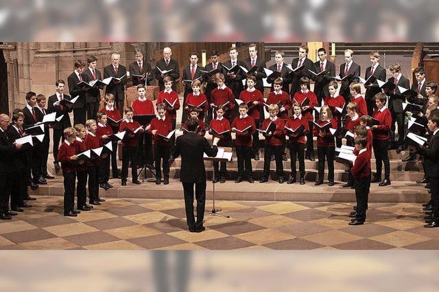 Chorraum Münster: Konzert der Freiburger Domsingknaben